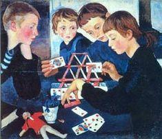 "Zinaida Serebriakova ""Le château de cartes"""
