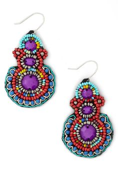 Beauty and the Bead Earrings by ModCloth. Eye catching and a perfect pick up to any basic look. $19.99