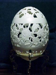 Egg carving, Eggs, sculpting, carving, Egg Salon Boyertown PA