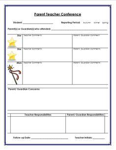 parent teacher conference form for parents Teacher Tools, Teacher Hacks, Teacher Resources, School Classroom, School School, School Stuff, School Ideas, Classroom Ideas, Parent Teacher Conference Forms