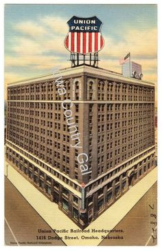 NEW UNION PACIFIC HEADQUARTERS POST CARD LAMINATED POSTER/ WALLING HANGIN  11X17