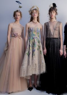 Backstage at Dior Haute Couture. Photos by Kevin Tachman.