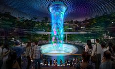 World's tallest indoor waterfall to be built in #Singapore airport.