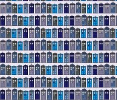 A whole range of Doctor Who fabrics!!! This is what my next shower curtain will me made out of!