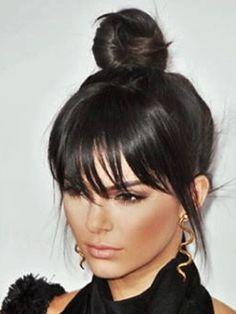 Frisuren 2016: überlanger Pony von Kendall Jenner