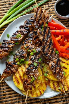 Grilled Chicken Skewers, Grilled Meat, Meat Skewers, Kebabs, Crockpot Recipes, Chicken Recipes, Healthy Recipes, Cooking Recipes, Asian Recipes