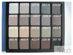 Inglot Freedom System Eye Shadows Cool Neutrals 20 Palette ~ Swatches, Photos, Review, and 20% OFF! • Perilously Pale