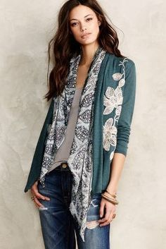Knitted & Knotted Morning Petals Cardigan #anthrofave #anthropologie