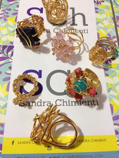 Anillos, rings by Sandra Chimienti