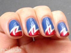 DIY Nail Design: Wonder Woman Nails http://www.ivillage.com/wonder-woman-nails/5-b-490202