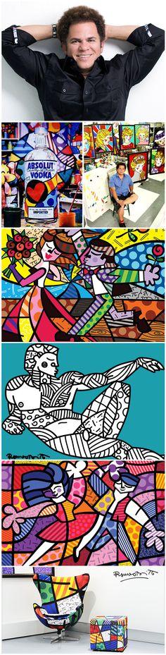 Nascido em Recife, o pequeno Romero Britto já demonstrava o gosto pela pintura aos oito anos de idade, praticando o exercício em superfícies como jornais. Seis anos depois ele vendeu seu primeiro quadro à Organização dos Estados Americanos. Hoje, o artista plástico é reconhecido mundialmente e suas obras são extremamente requisitadas.♥≻★≺♥ Arte Pop, Star Wars Concept Art, Ecole Art, Graffiti Painting, Cool Art Projects, Pablo Picasso, Art Deco Design, Art Plastique, Art Sketchbook