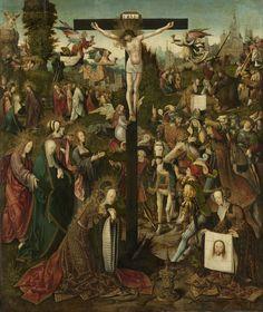 The Crucifixion, Jacob Cornelisz. van Oostsanen, c. 1507 - c. 1510