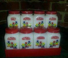Restored Vintasge Spice Set....wonderful!
