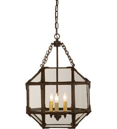 Visual Comfort Suzanne Kasler Morris 3 Light Foyer Pendant in Antique Zinc SK5008AZ-CG #visualcomfort #lightingnewyork #lighting