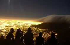 This is the view from Signal Hill looking south-east towards Devils peak across Bokaap (Cape Town city bowl).