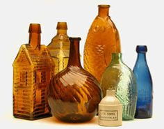 Love old bottles...fairly inexpensive way to decorate yet add color to any room
