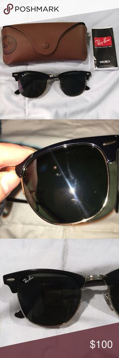 ✨Black Rayban Sunglasses✨ Good condition. Just minor small scratches on the right lense, it isnt noticeable when looking through them. comes with case. Brandy Melville Accessories Glasses