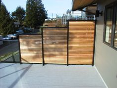 Dek Rail aluminum deck railing frames with full or semi privacy panel optionsDek Rail aluminum deck railing frames with full or semi privacy panel optionsSan Francisco Decorator Showcase Edible Deck Garden, I like privacy Hot Tub Privacy, Deck Privacy Panels, Privacy Wall On Deck, Privacy Screen Outdoor, Backyard Privacy, Privacy Fences, Fencing, Horizontal Deck Railing, Deck Railings
