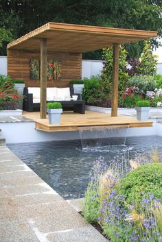 Get the perfect custom pergola shade for your delight. Find the pergola pool designs that suit the space you want to create! Outdoor Rooms, Outdoor Gardens, Outdoor Pergola, Pergola Kits, Deck Patio, Diy Pergola, Wooden Pergola, Pergola Lighting, Pergola Shade