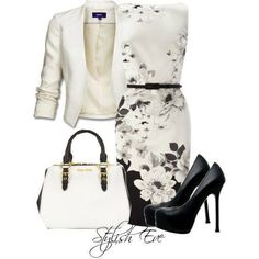 romantic black and white look