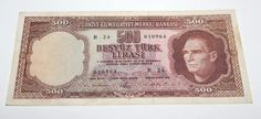 This banknote is 5 th Emission of Turkey banknote. My idea Very Good Fine / 10 ) Condition banknote. Baby Items, Personalized Items, Frame, Things To Sell, Coins, Banknote, World, Stamps, Picture Frame