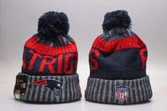 New England Patriots Winter Outdoor Sports Warm Knit Beanie Hat Pom Pom e8e46eb0d021