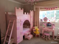 Castle bunk beds with slide and stairsHome Improvement Center ...