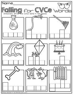 Words with silent e coloring pages ~ (FREEBIE) CVCe Word Family Printables Long vowels (phonics ...