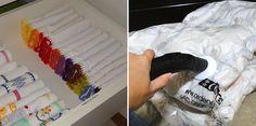 Como organizar as roupas de cama, mesa e banho - Casinha Arrumada
