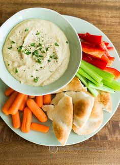 Easy, Creamy Homemade Hummus | 25 Easy Party Dips You Can Make In 20 Minutes