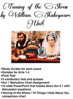 Taming of the Shrew Essay Question?