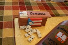 Puerto Rico dominoes cake.