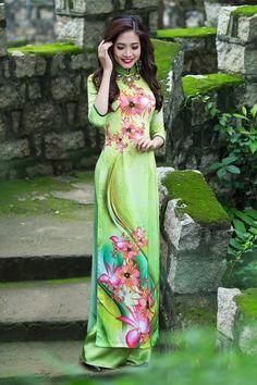 Ao Dai Thai Tuan fabric VT227 - Ao Dai Vinh