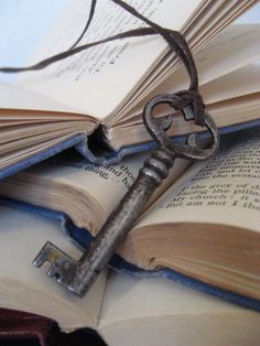 key bookmarks - simple gift.  if you put one on each side, it will also hold your book open at the beach.