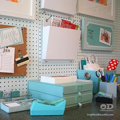 Home Office Refresh. Click for ideas from one of our favorite bloggers Bright, Bold, and Beautiful.