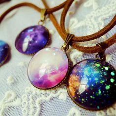 galaxy necklace!!!