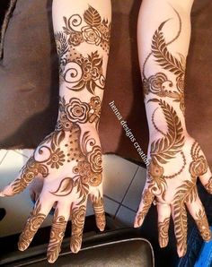Ideas For Embroidery Patterns Mandala Fun Khafif Mehndi Design, Stylish Mehndi Designs, Mehndi Design Pictures, Beautiful Mehndi Design, Latest Mehndi Designs, Mehndi Images, Bridal Mehndi Designs, Bridal Henna, Wedding Mehndi