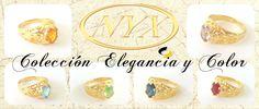 ¿Los anillos son tu debilidad? Quedarás fascinada con esta colección única y llena de color. Anillo enchapado en oro 18 kt con piedras con piedra preciosa. Cód.: 700 31010