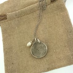 FINGERPRINT necklace, Custom fingerprint, made from JPEG image of Fingerprint or Thumbprint, keepsake jewelry by MayaBelle on Etsy https://www.etsy.com/listing/250133056/fingerprint-necklace-custom-fingerprint