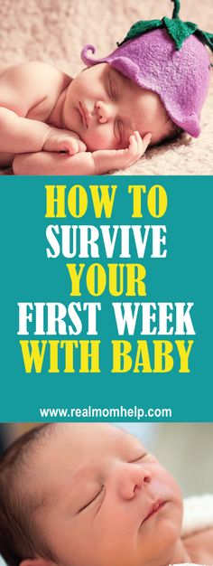 how to survive your first week with baby