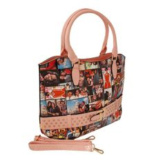 Pink Michelle Obama Belted Tote Print Magazine, Michelle Obama, Black Belt, Tote Handbags, Vegan Leather, Shoulder Strap, Fashion Jewelry, Pink, Accessories