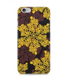 Yellow and Brown Flower Abstract Seamless 3D Iphone Case for Iphone 3G/4/4g/4s/5/5s/6/6s/6s Plus - ABSTSEAM0040 - FavCases