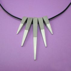 Necklace or chokers chain or leather cement. 5  #jewerly #cement #beton #concrete #necklace #choker