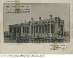 Photo from the Peoria Public Library Collection. East Peoria, Peoria Illinois, Local History, Fallout, Vintage Advertisements, Tabletop, The Past, Public, Floor Plans