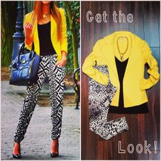 We are obsessed with this new Necessitees jacket! Pair it with a patterned leggings for an edgy night time look or with blue jeans and a white tee for a daytime look! It comes in three amazing colors: yellow, blue and pink! #martas #martasboutique #martasladue #necessitees #jacket #crop #yellow #bright
