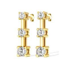 Diamant Ohrringe mit 1.00 Karat Diamanten aus 585er Gelbgold. Diese Diamantohrringe sind für nur 1299.00 Euro bei www.juwelierhausabt.de erhältlich.