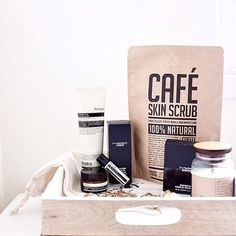 Cafe Skin Scrub - Coffee Scrub Packaging | Kraft Stand Up Pouch