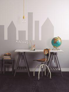 Los deberes primero: Escritorios juveniles - Disillusioned Tutorial and Ideas Home Office, Castle Mural, Kids Castle, Kid Desk, Study Rooms, Inspiration Wall, Modern Kitchen Design, Dream Bedroom, Dorm Room