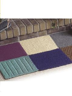 Bulky Knit Rug knitting patterns for rugs