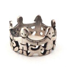 Thoughtful gift!  James Avery Sterling Paper Doll Children Ring Silver 925 Band Signed Size 6 USA | eBay #ebay #elegantkb #giftformom